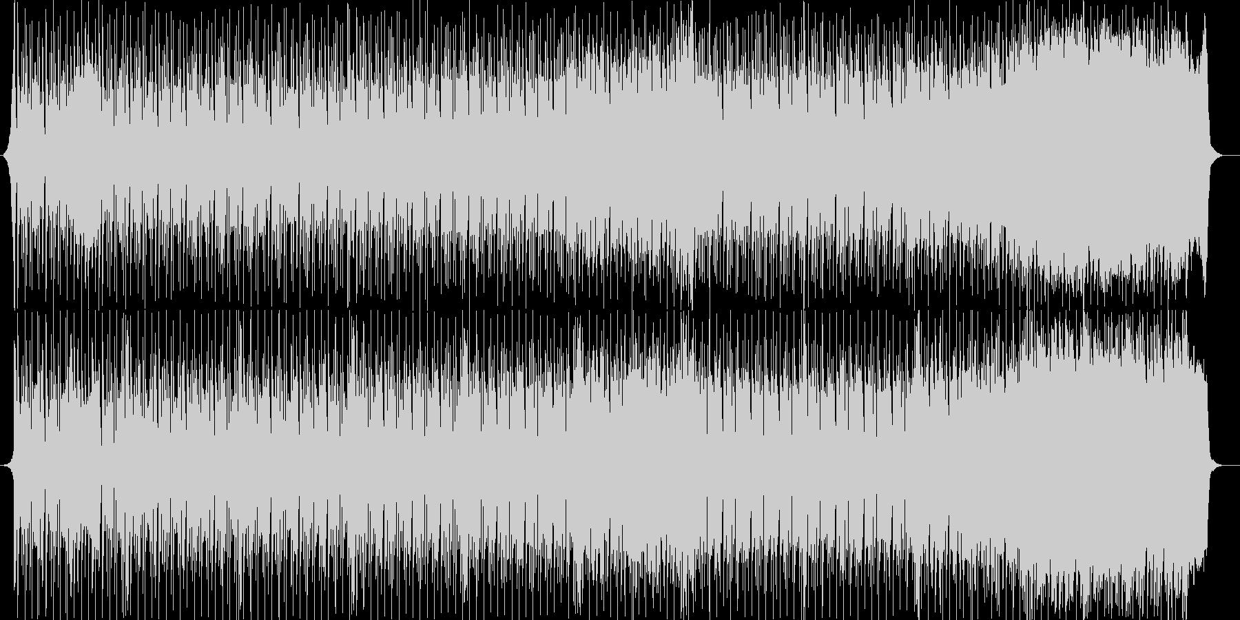 シンセサイザーの懐かしいポップな曲の未再生の波形