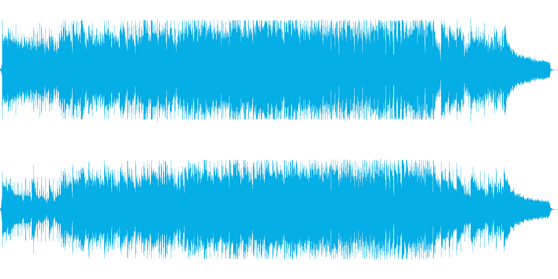 ギターとピアノの70sフォークポップスの再生済みの波形