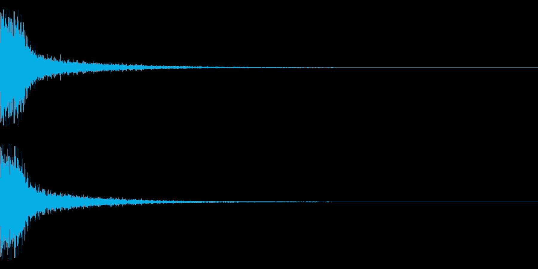 スパーン(スネア系)の再生済みの波形