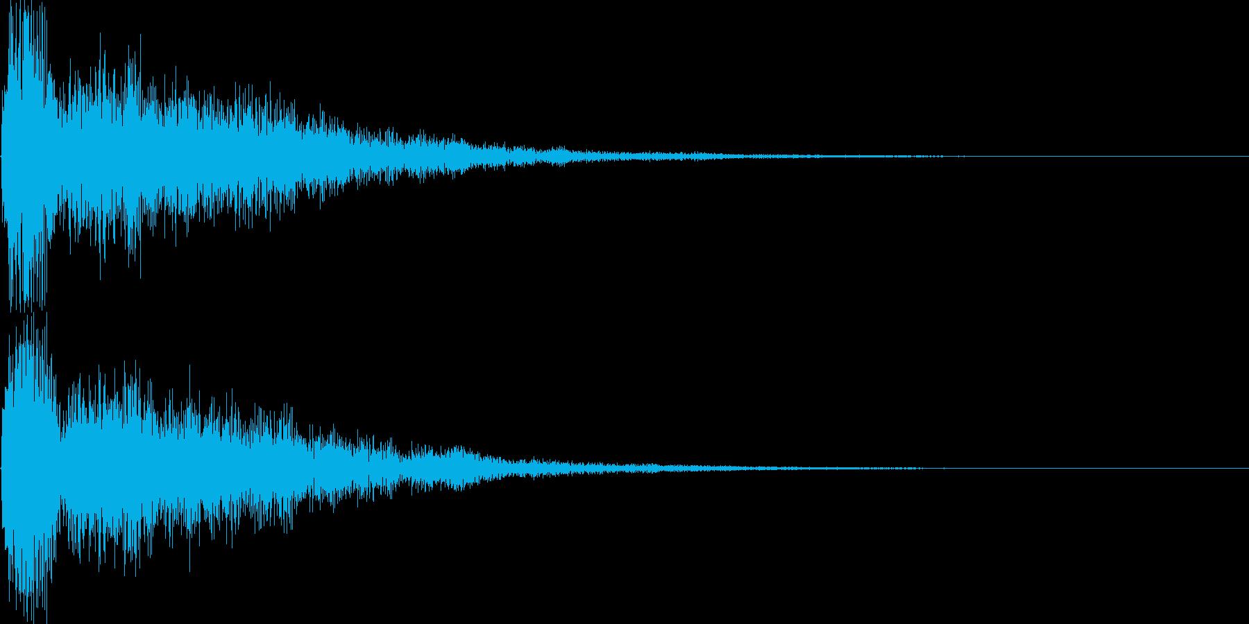 シンセ音(アプリ、サウンドロゴ等に)の再生済みの波形