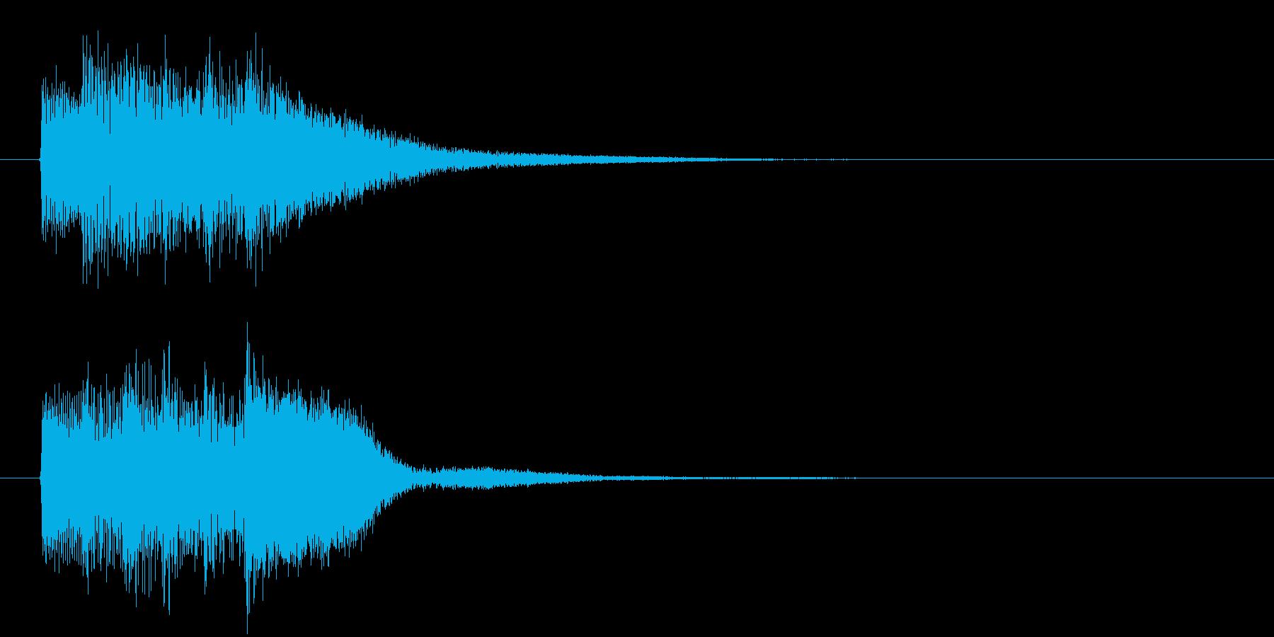 レベル・ステータス変化な効果音 2の再生済みの波形
