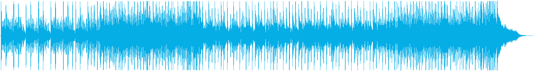 活気や元気のある明るいピアノの曲の再生済みの波形