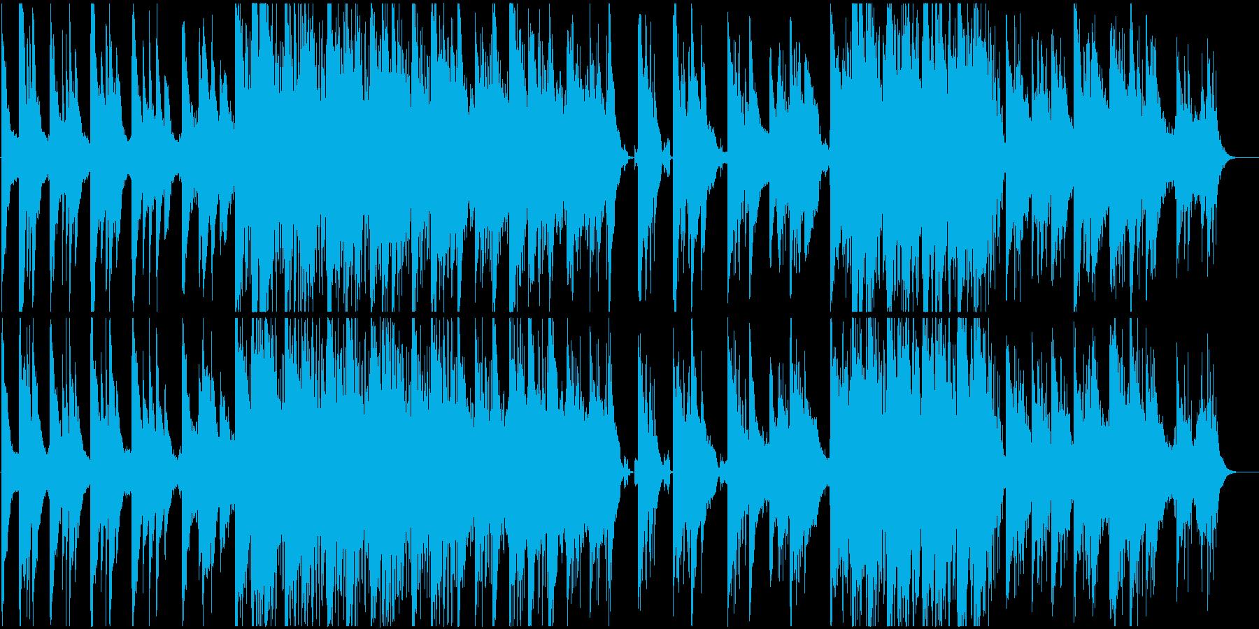 ピアノが印象的なインスタレーション音楽の再生済みの波形