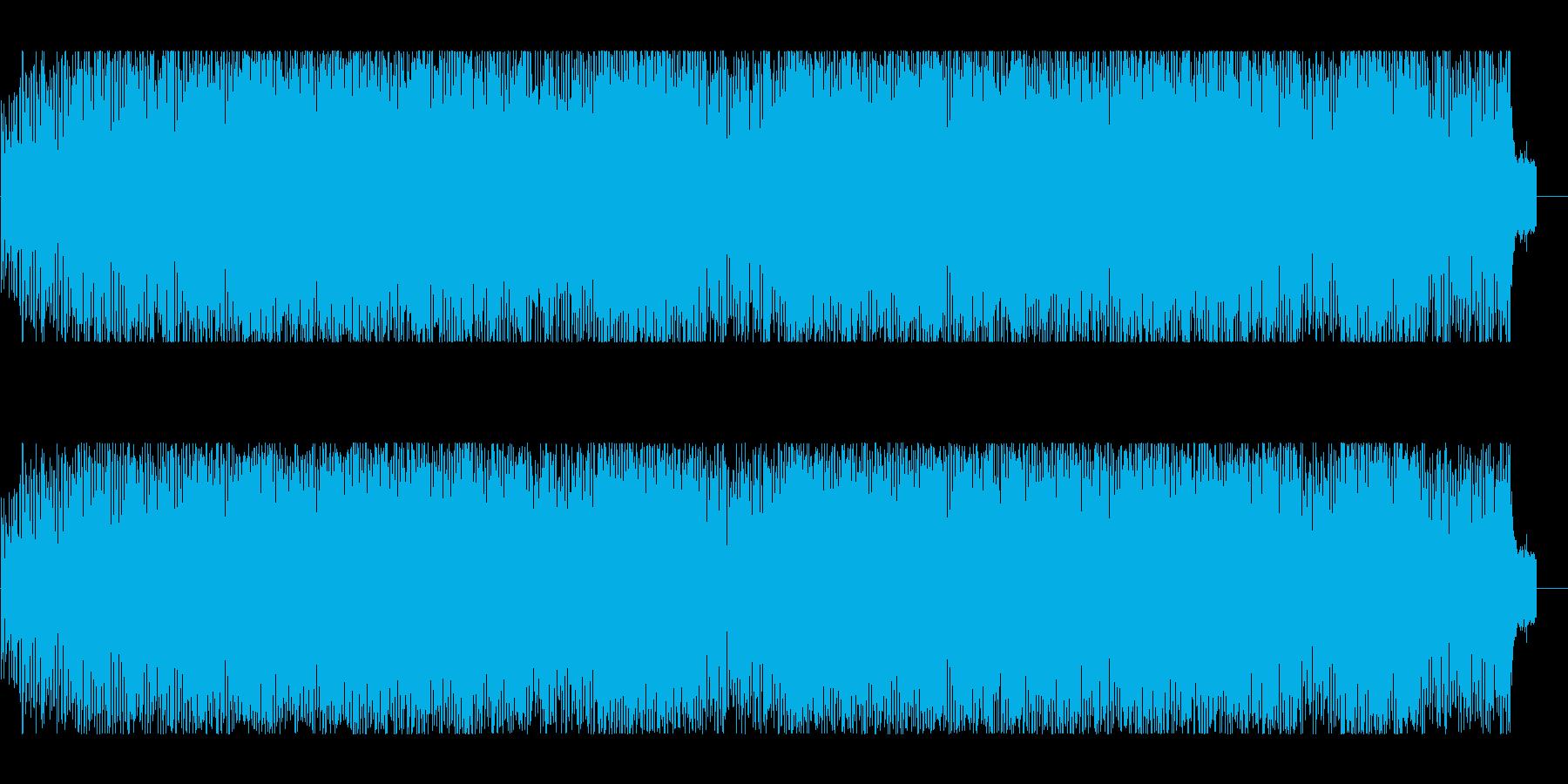 エキサイティングな近未来的エレクトロニカの再生済みの波形