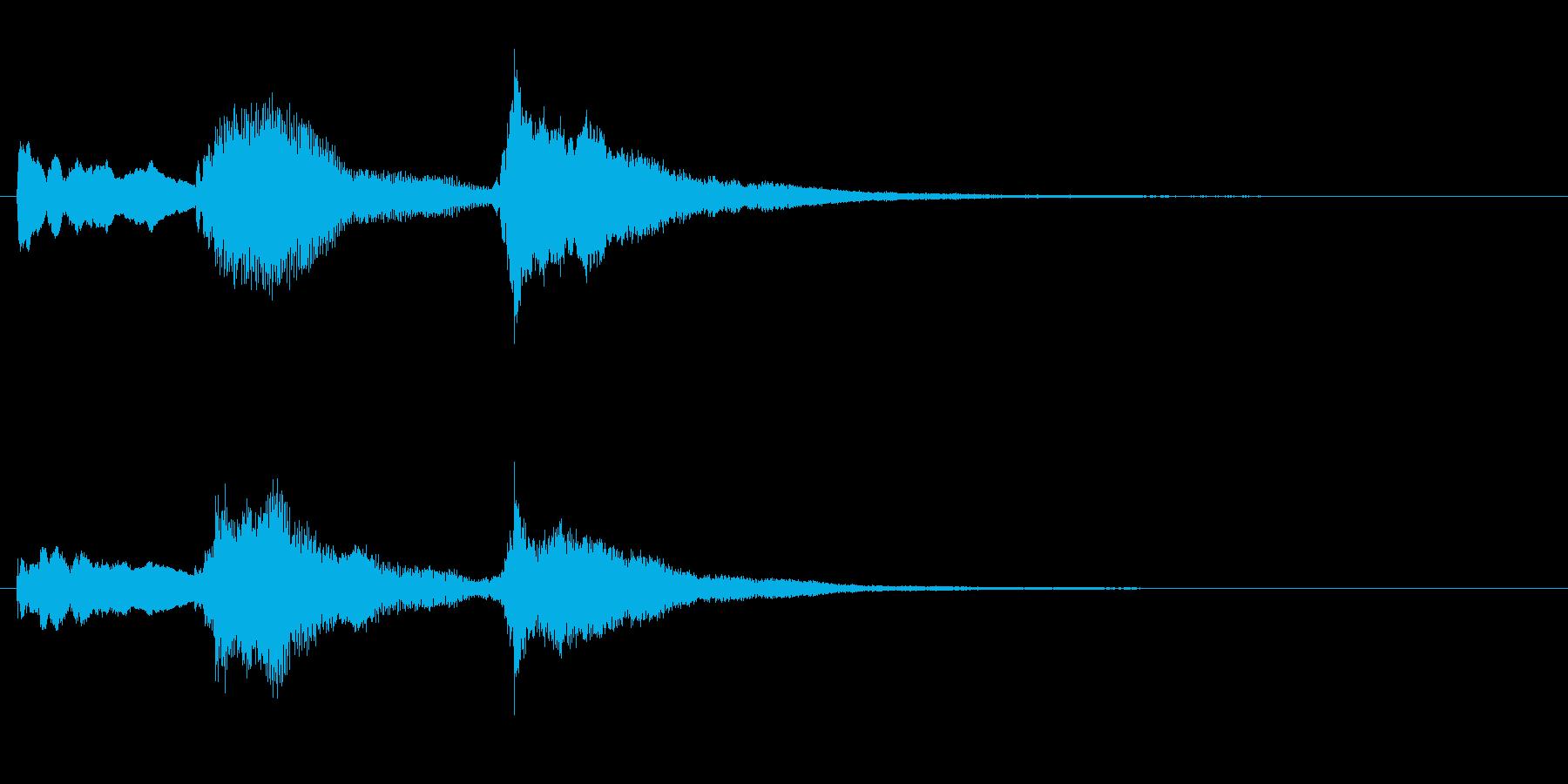 ピアノのホラーなジングル・場面転換の再生済みの波形