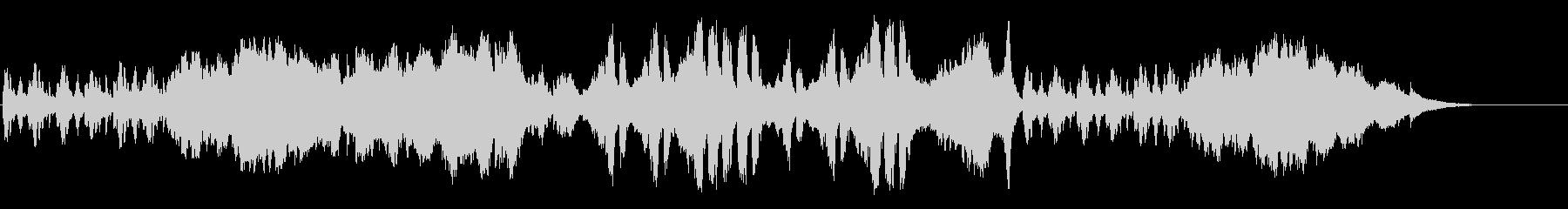 ドラマチックなクラシック/テーマの未再生の波形