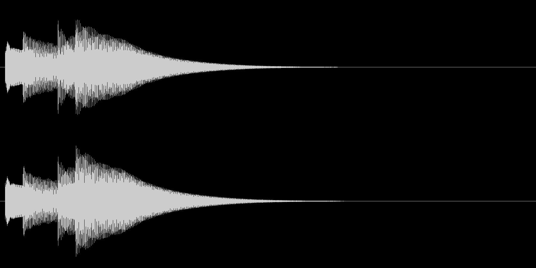 キラキラーン/ポイント音に!鉄琴4音上昇の未再生の波形