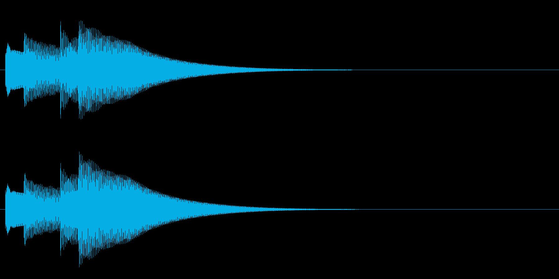 キラキラーン/ポイント音に!鉄琴4音上昇の再生済みの波形