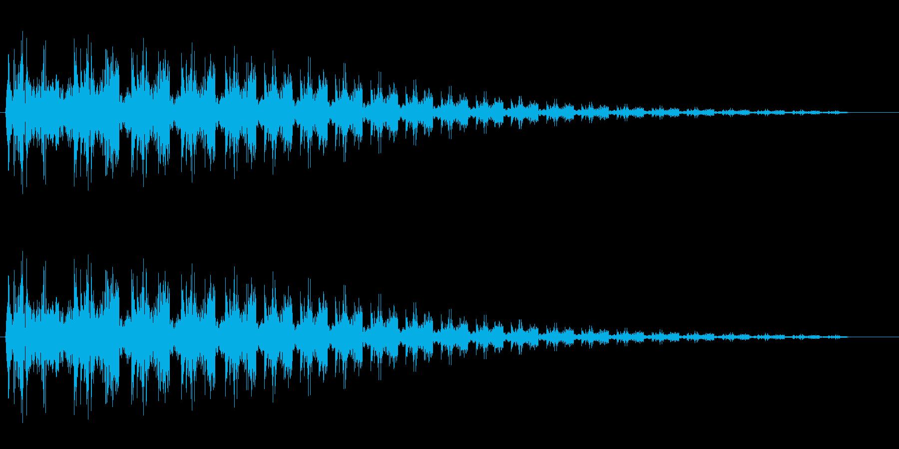 ビヨヨーン(ばねが跳ねるような音)の再生済みの波形