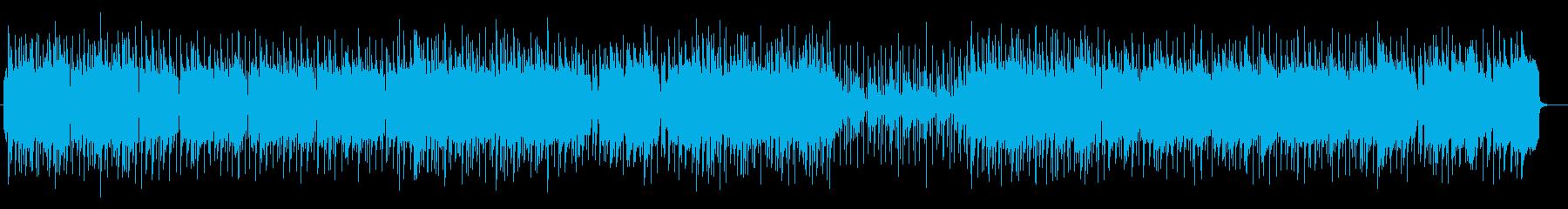 キラキラしたシンセが特徴のポップスの再生済みの波形
