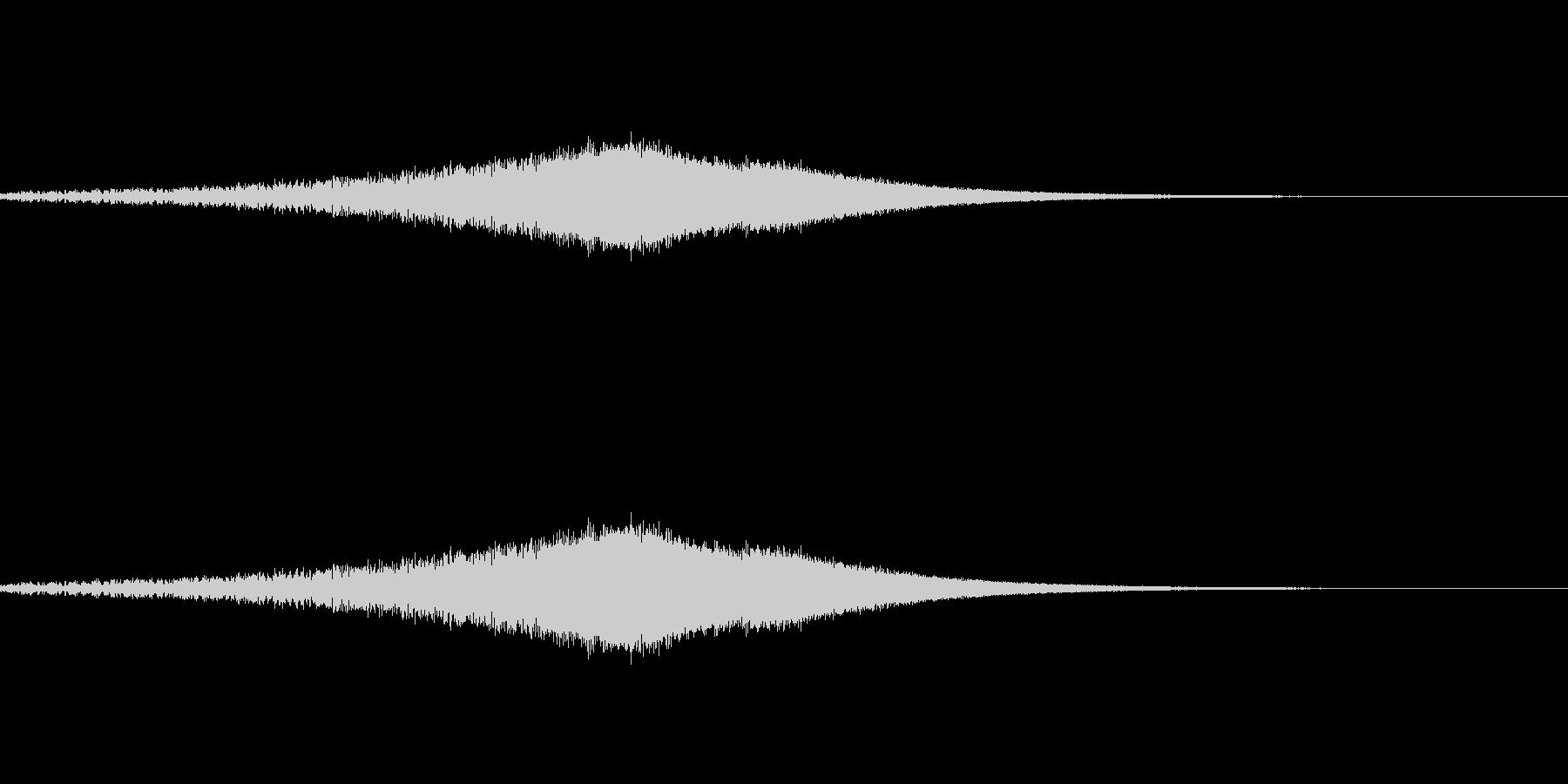 ノイズの上昇音の未再生の波形