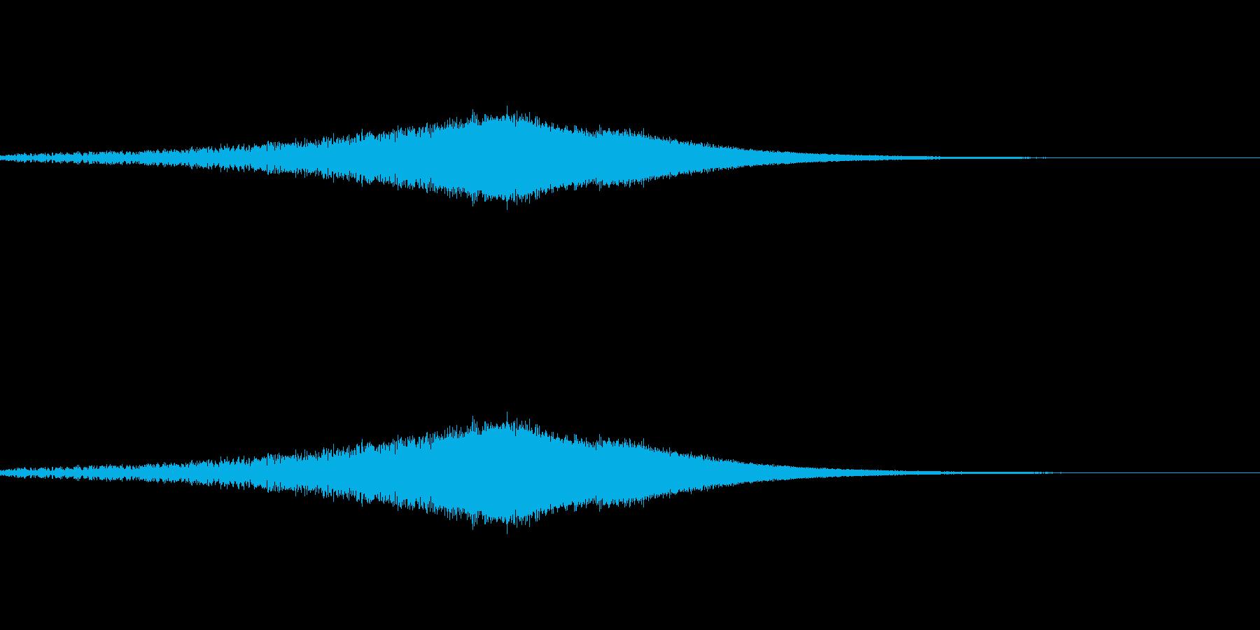 ノイズの上昇音の再生済みの波形