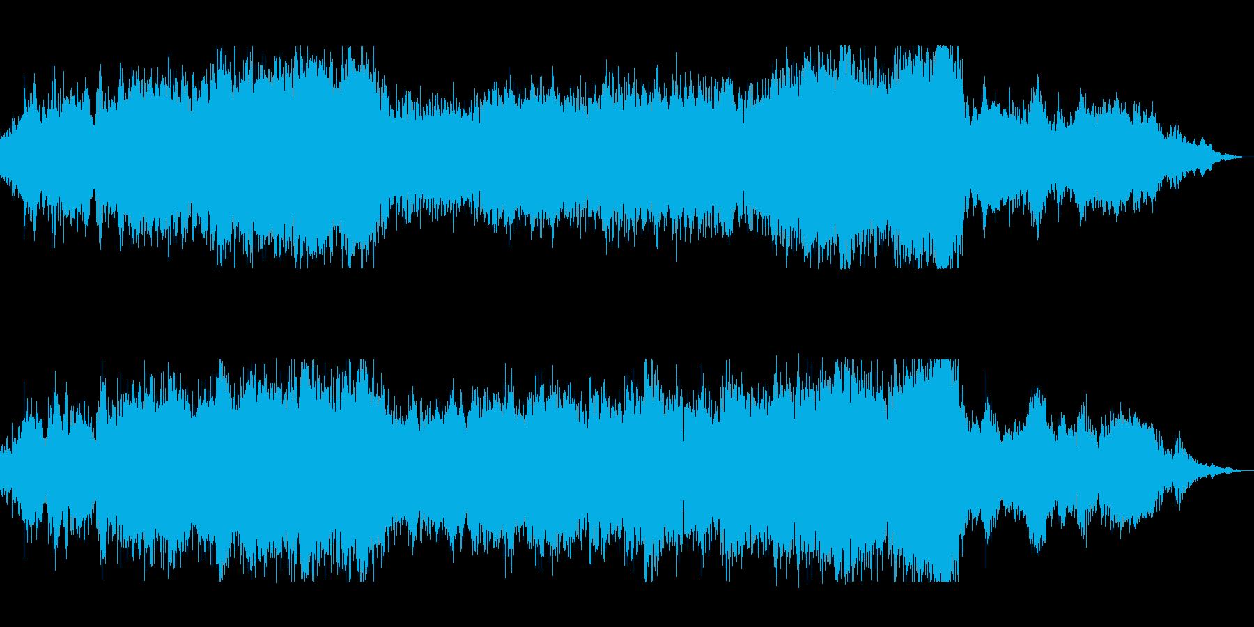 壮大なオーケストラのサウンドトラックの再生済みの波形