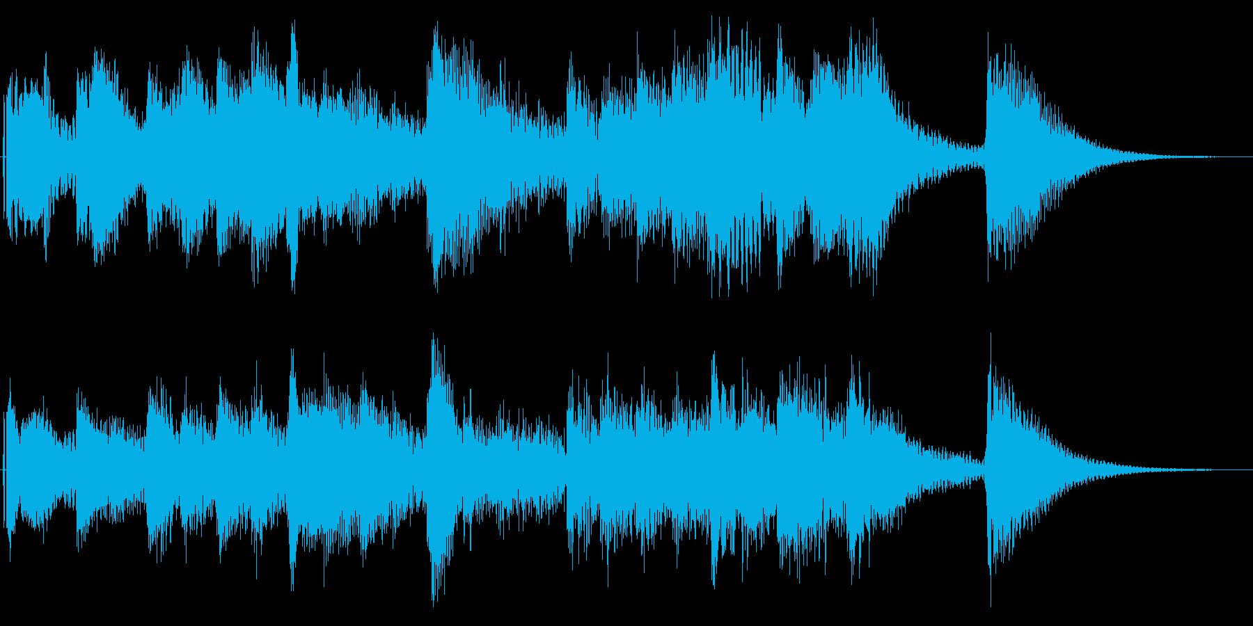 ほのぼのとした日常向けジングルの再生済みの波形