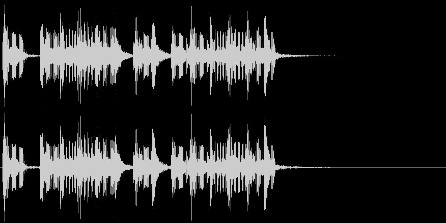 2小節ジングル02 モータウンビート2の未再生の波形
