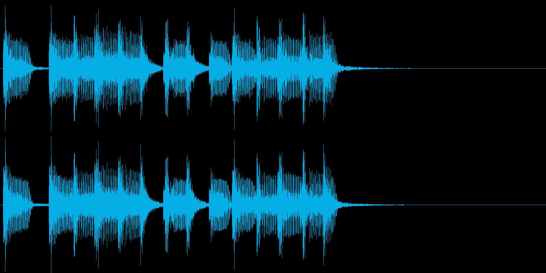 2小節ジングル02 モータウンビート2の再生済みの波形