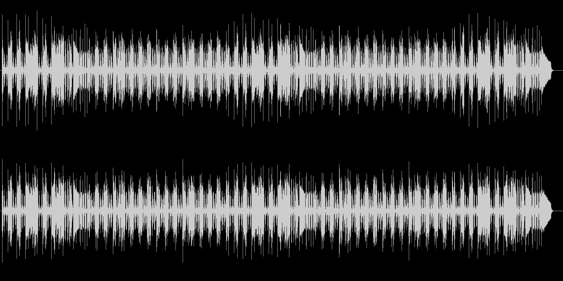 軽快なリズムのピアノポップスの未再生の波形