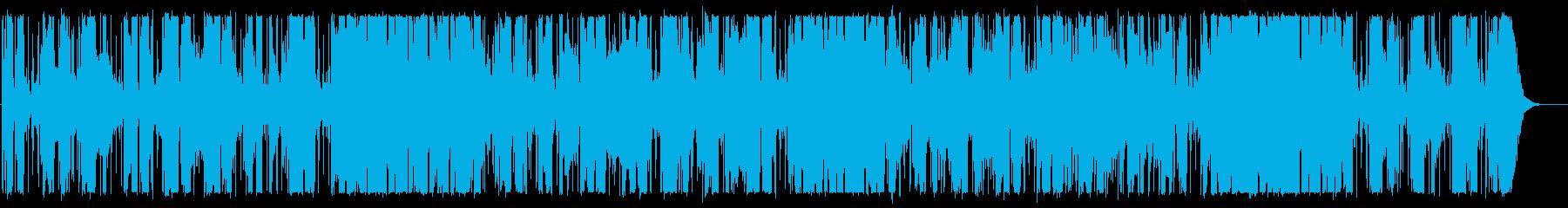 エレキギターが切ない大人雰囲気のBGMの再生済みの波形