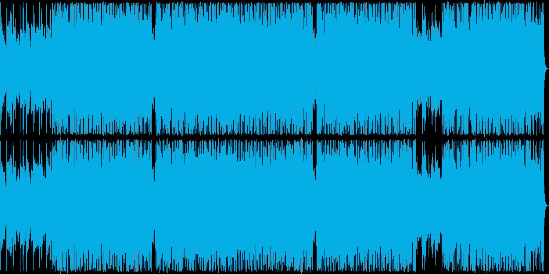 80年代風のロックの再生済みの波形
