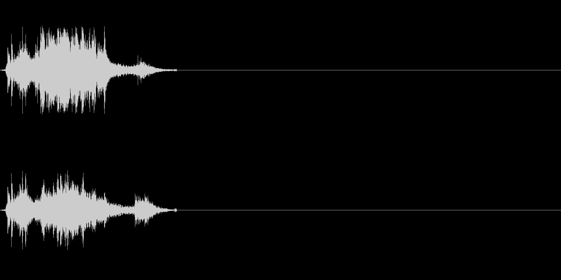 刀が擦れる音の未再生の波形