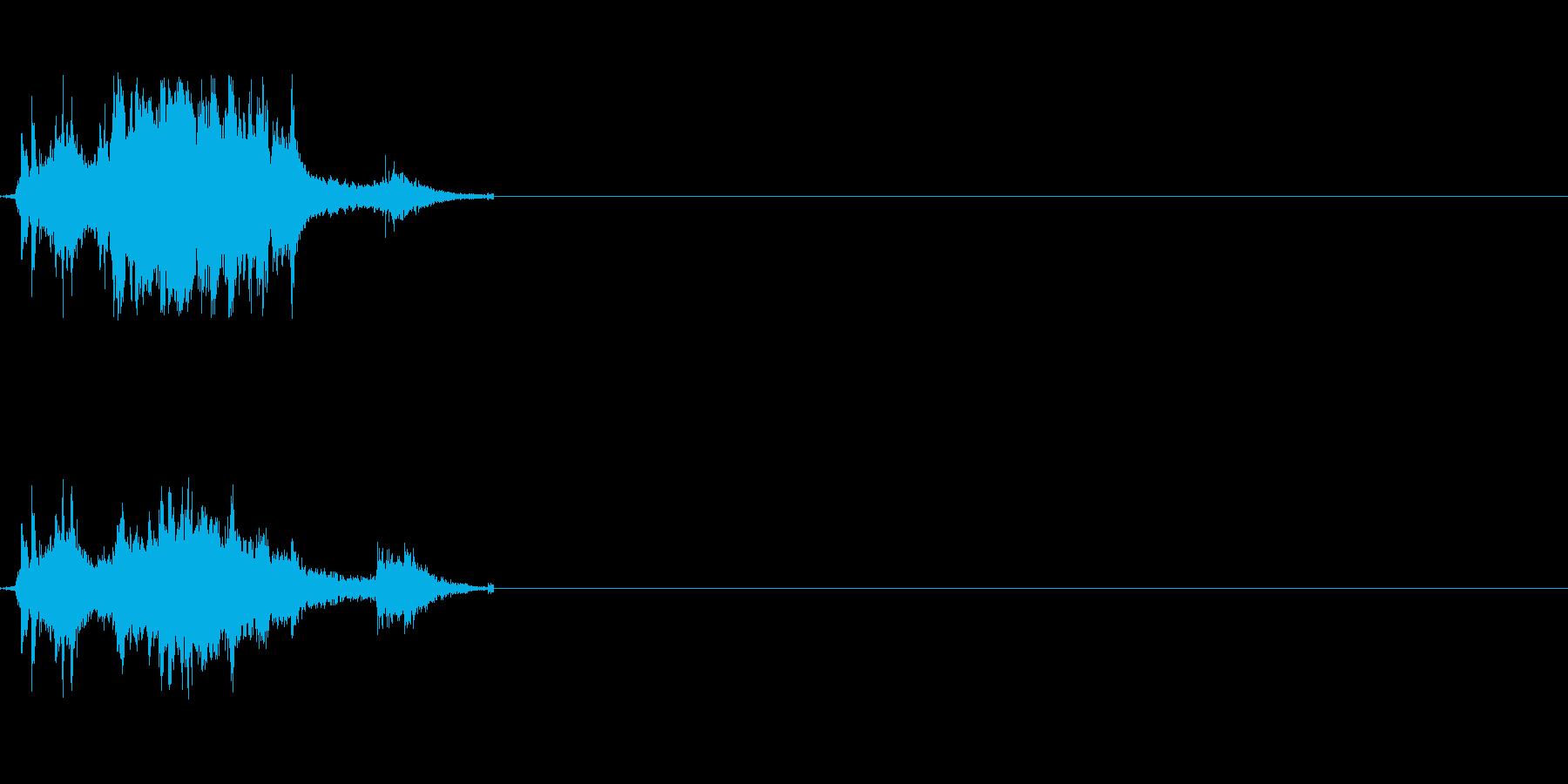 刀が擦れる音の再生済みの波形