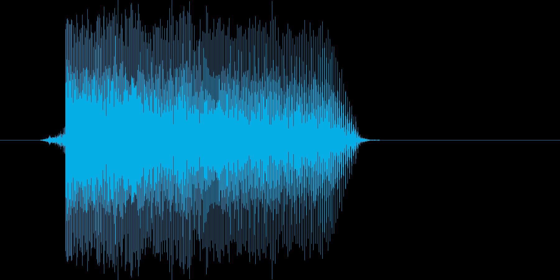 ゲーム(ファミコン風)レーザー音_016の再生済みの波形
