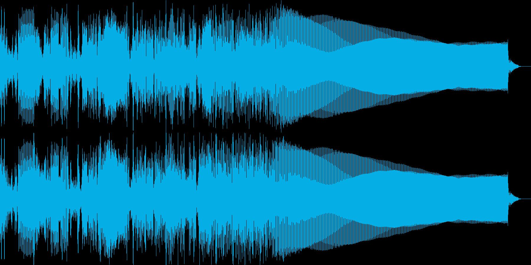 場面の切り替えなどに使いやすいジングルの再生済みの波形