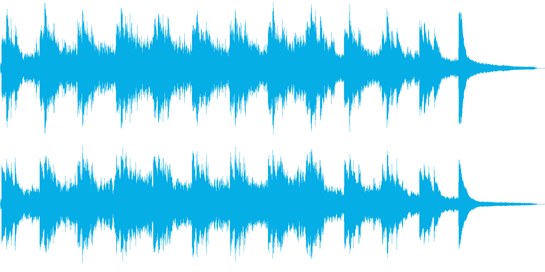 ホラーな雰囲気のピアノとストリングスの再生済みの波形