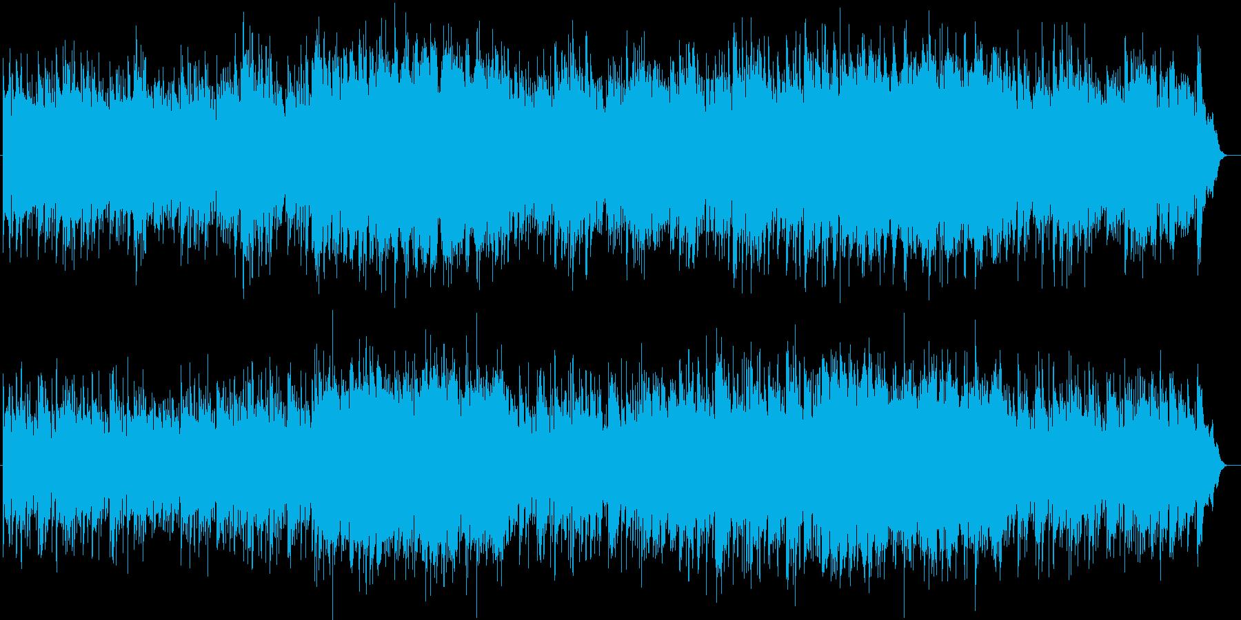 優しい風のようなピアノ楽曲の再生済みの波形