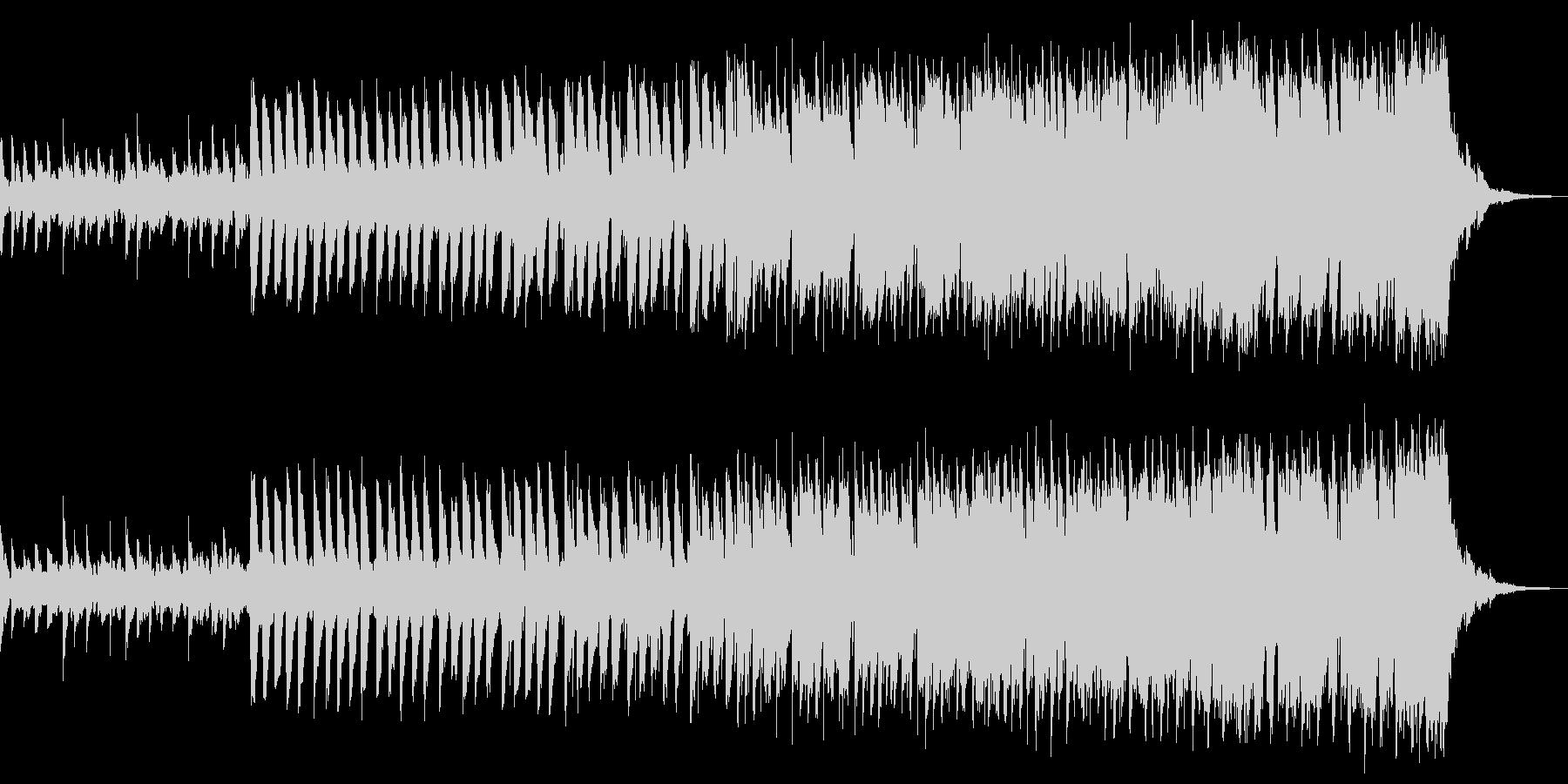 エレクトロな入場曲の未再生の波形