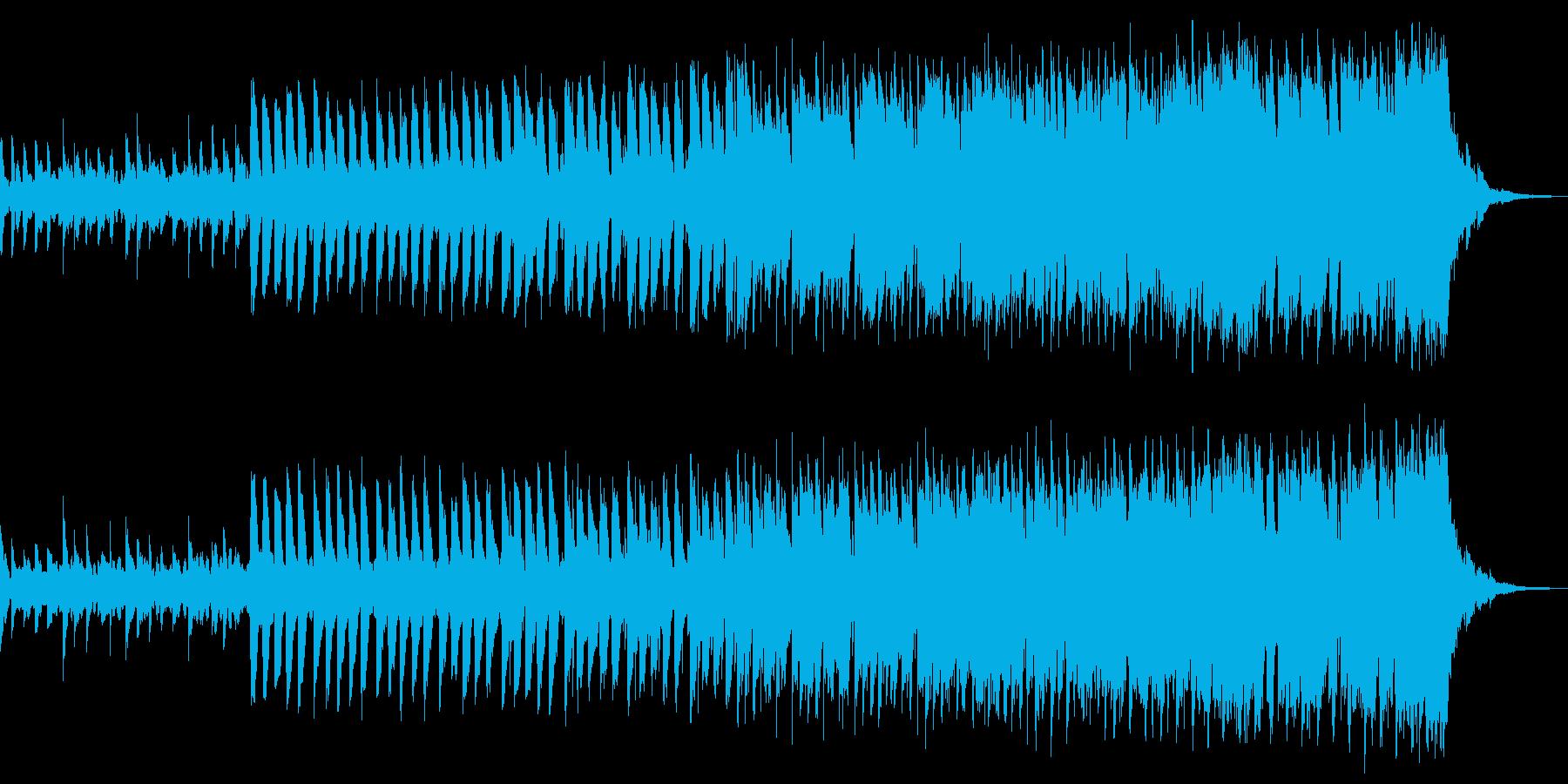 エレクトロな入場曲の再生済みの波形