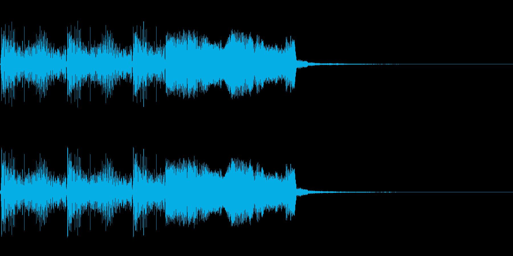 強化系魔法のSEの再生済みの波形