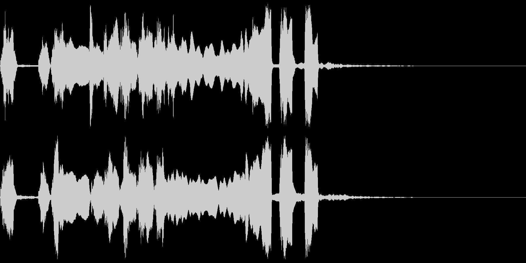 シンプルなファンファーレ3の未再生の波形