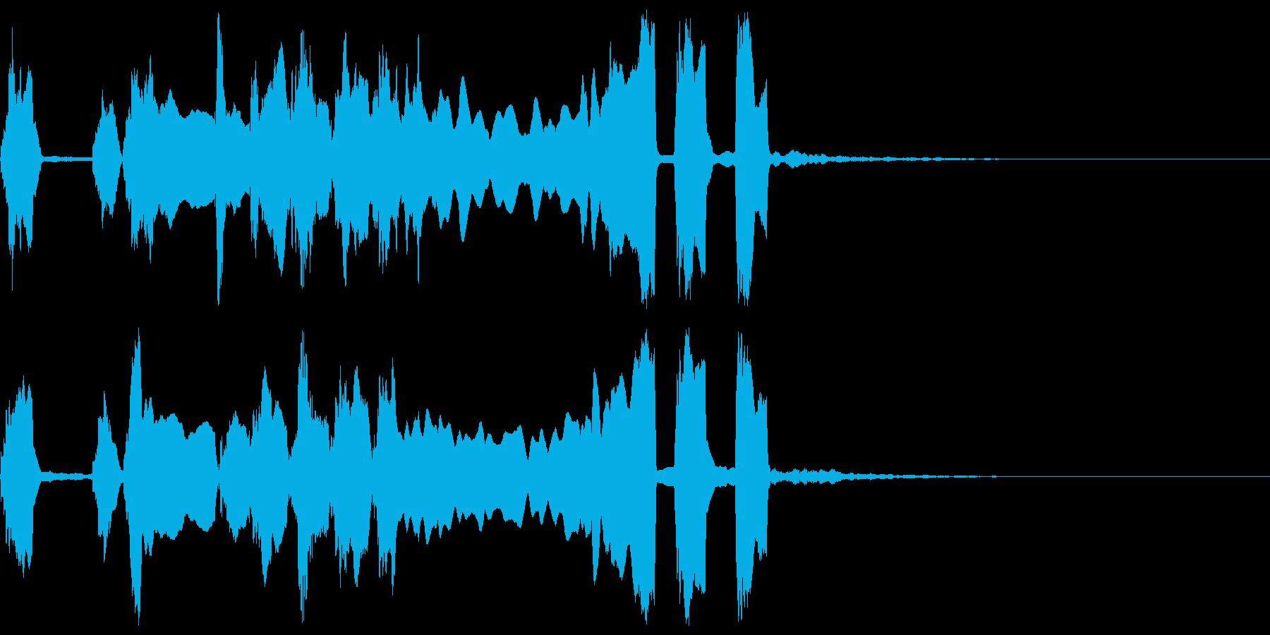 シンプルなファンファーレ3の再生済みの波形