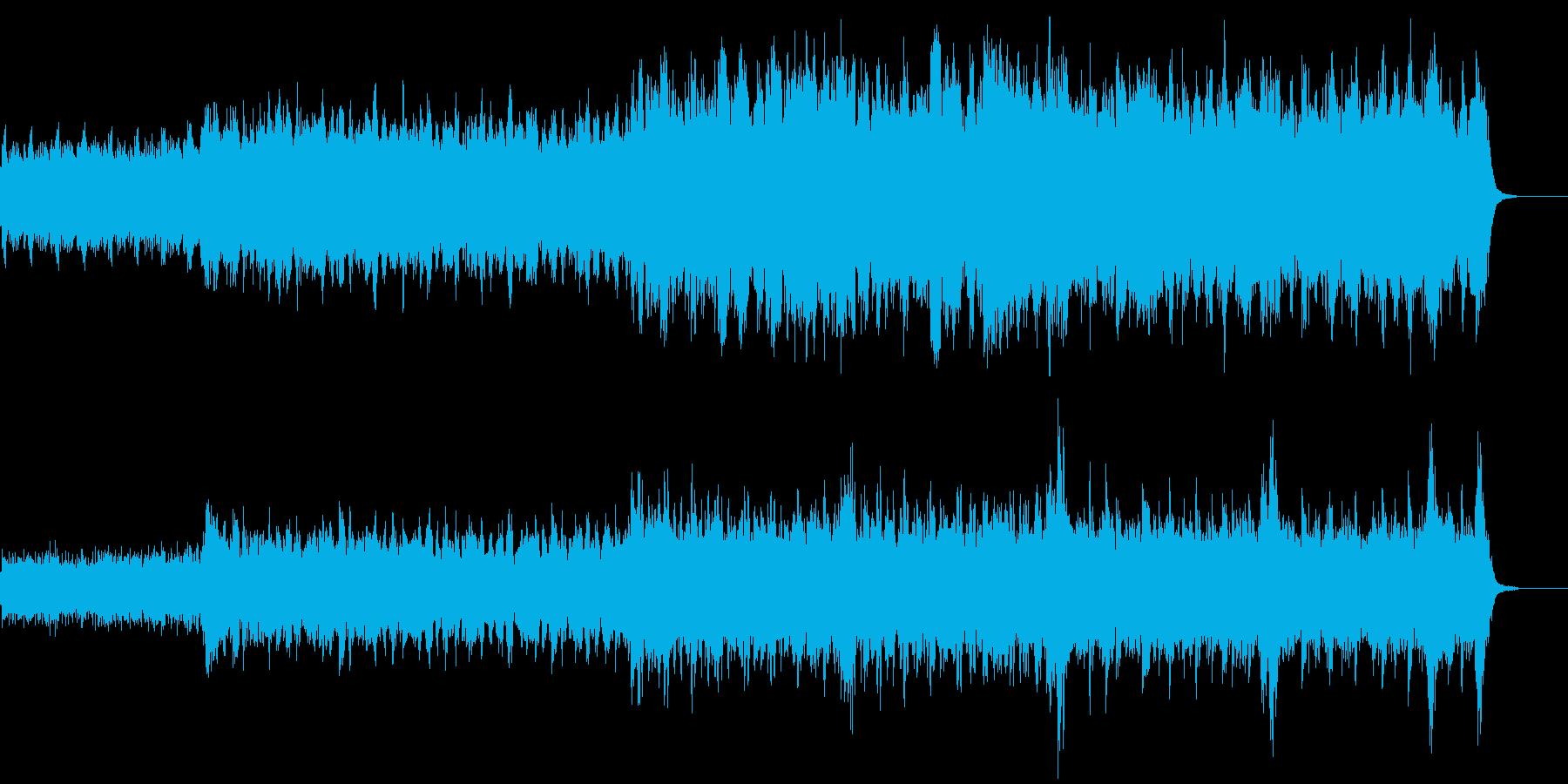 春っぽいオーケストラ曲の再生済みの波形