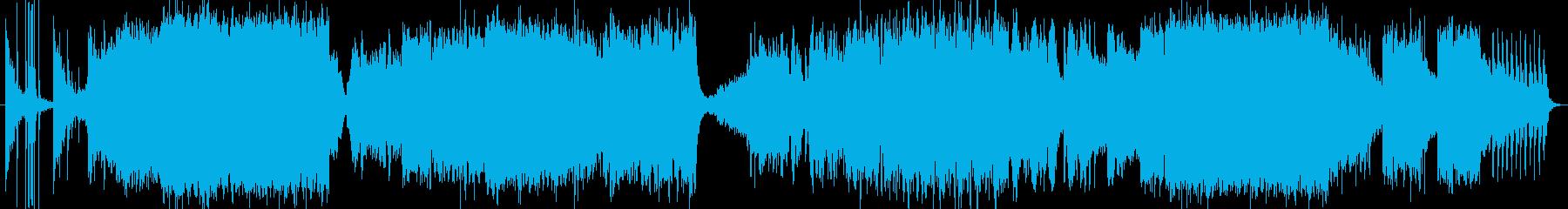 初代エイリアンのような不気味なホラー音楽の再生済みの波形
