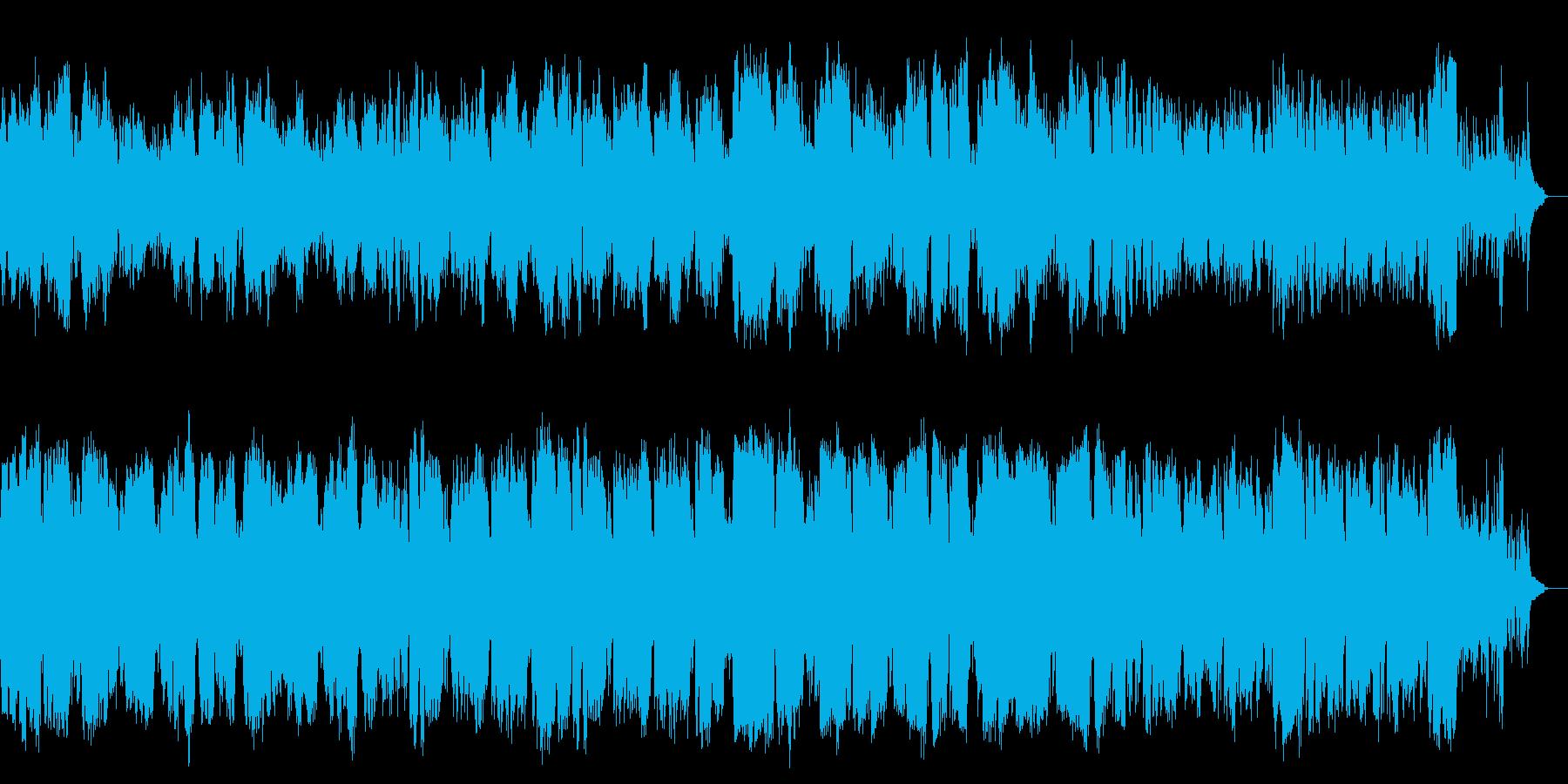 管楽器による哀愁感のあるメロディアスな曲の再生済みの波形