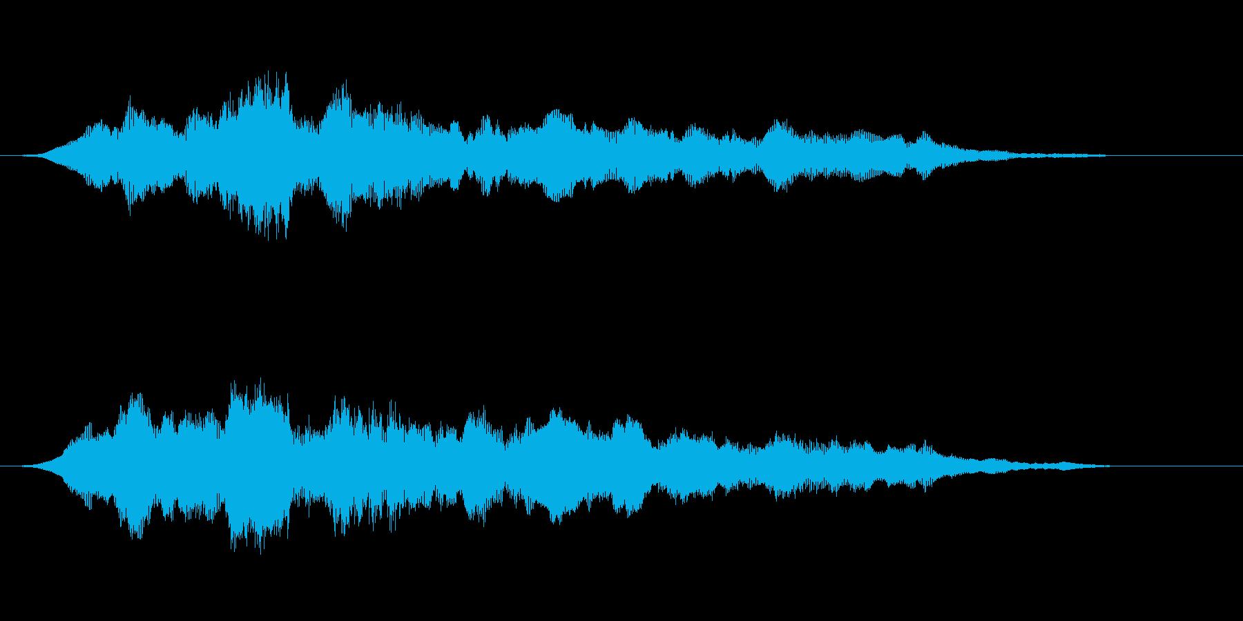 ホラーな低音 緊迫感や恐怖を描く音の再生済みの波形