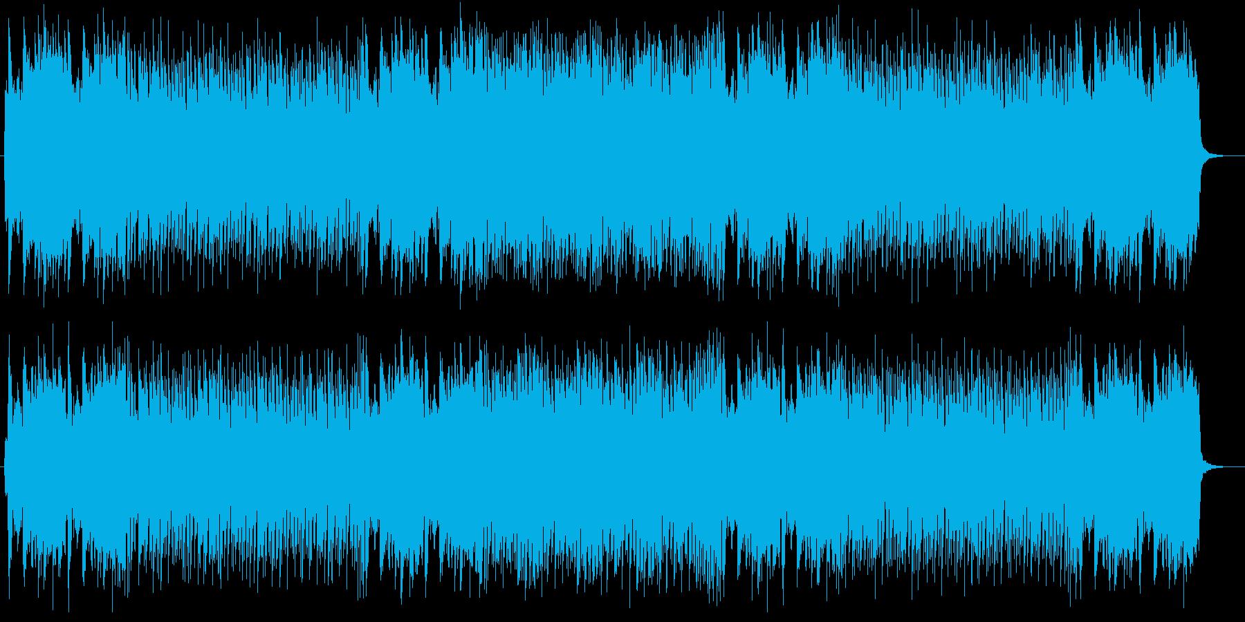 壮大な印象のオーケストラシンセの再生済みの波形