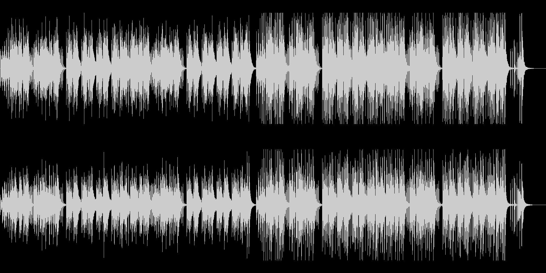 キュートでほのぼのした楽曲B:フル版の未再生の波形