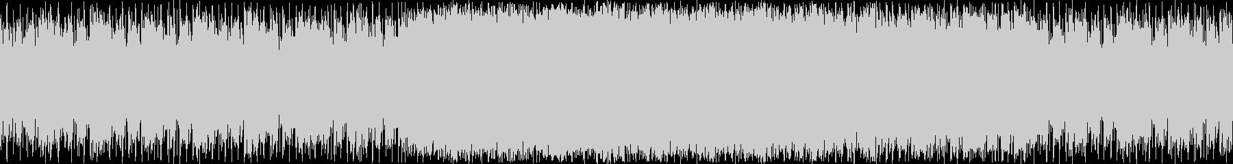 暗めのエレクトロBGMの未再生の波形