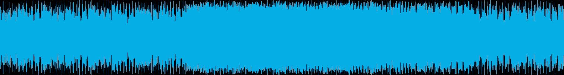 暗めのエレクトロBGMの再生済みの波形