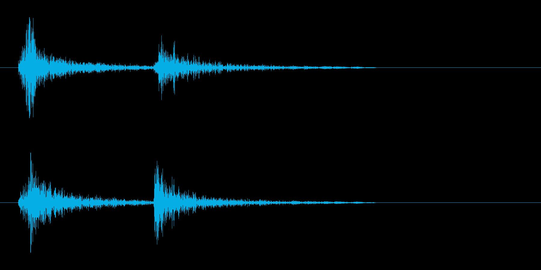 チャカ(軽めで短く歯切れの良い機械音)の再生済みの波形