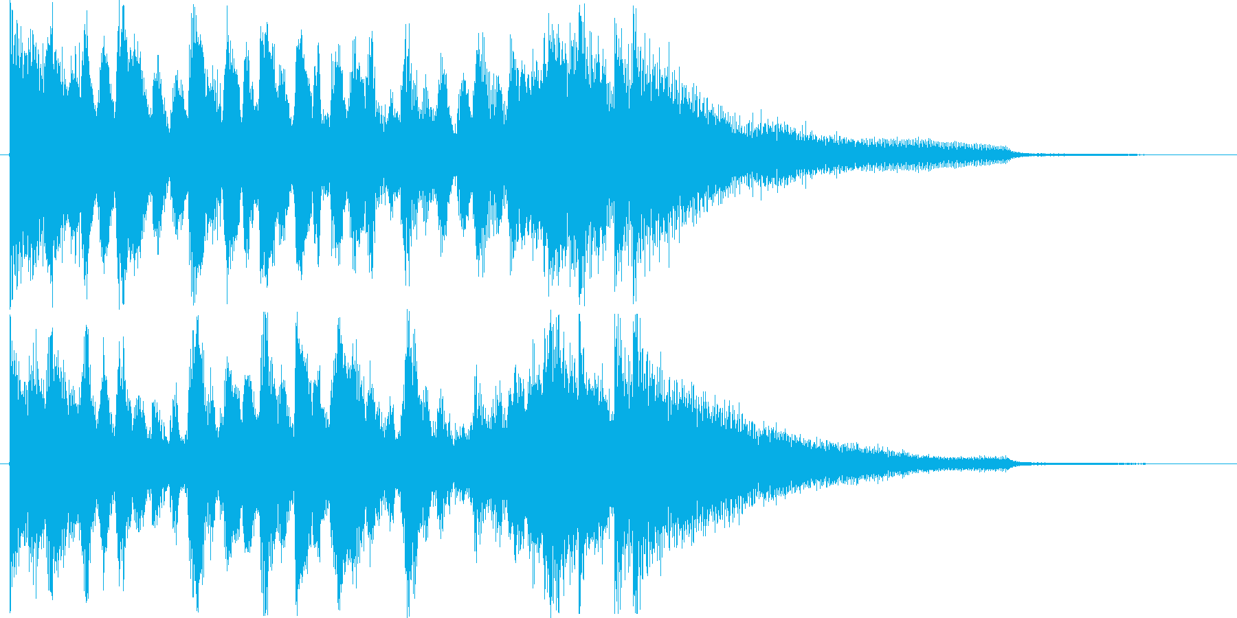 切羽詰まった時のショートソングの再生済みの波形