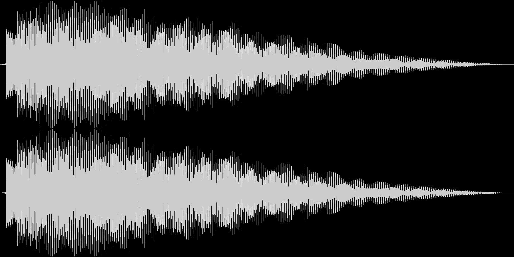 ティロリーーンの未再生の波形