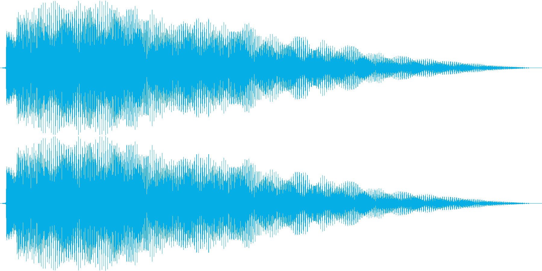ティロリーーンの再生済みの波形