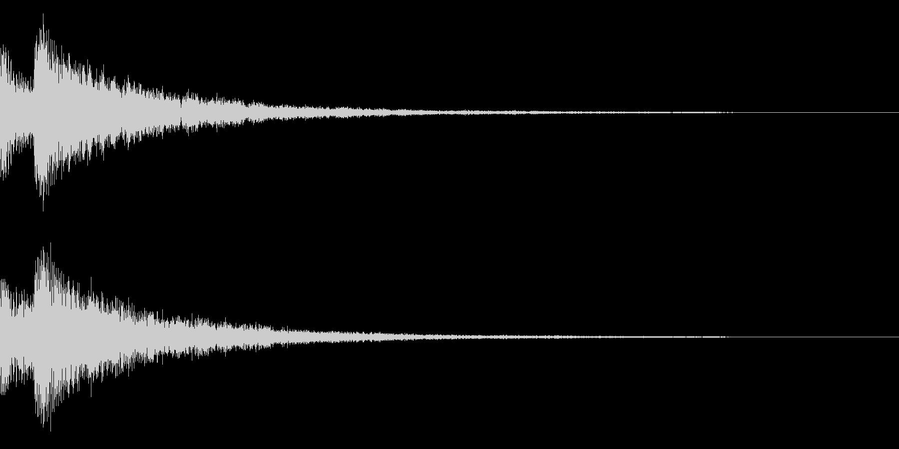 キラキラ/決定/星の未再生の波形