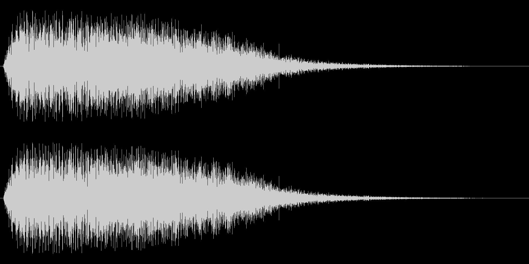 ビブラフォン系グリッサンドの未再生の波形