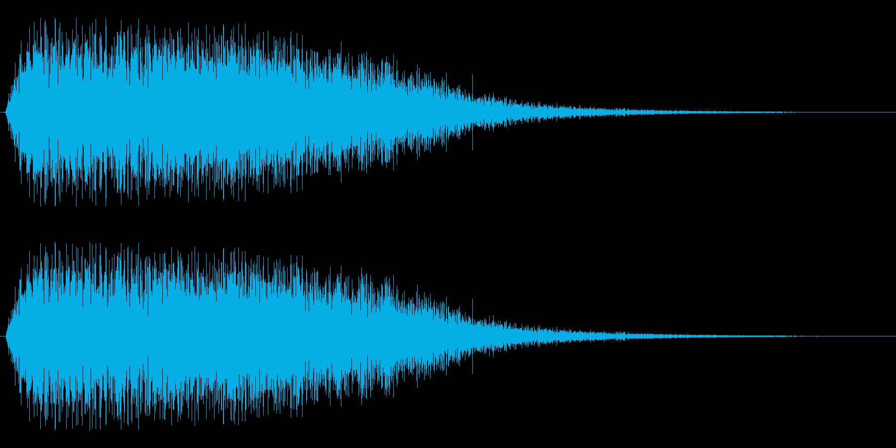 ビブラフォン系グリッサンドの再生済みの波形