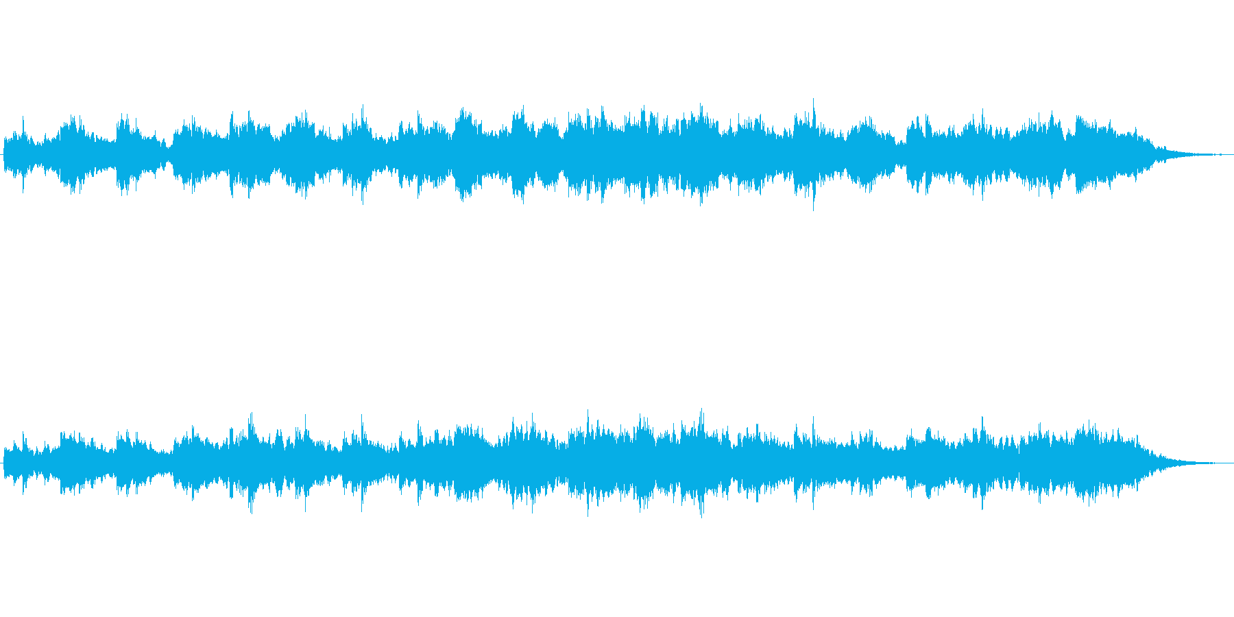 ジブリ風の想像の世界的なジングル2の再生済みの波形